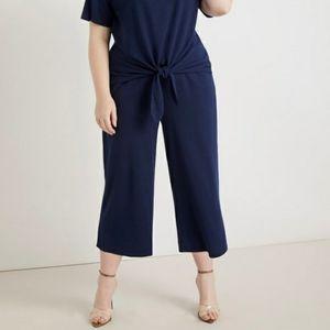 3/$30 Eloquii Wide Leg Cropped Pants Navy 14/16